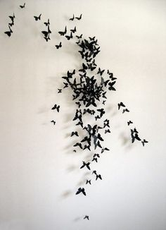 uniform connectedness:  The butterflies come together to make the shape of a man
