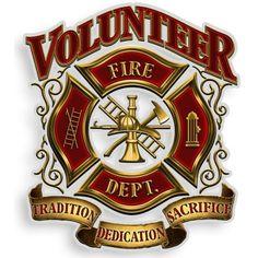 Volunteer Fire Dept Decal