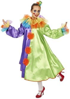 PartyBell.com - Bubble Clown Dress Adult #HalloweenCostume