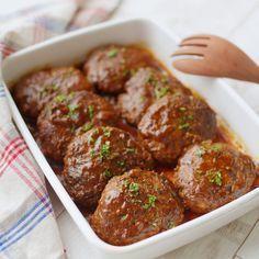 【作り置き】殿堂入り!ジューシー煮込みハンバーグ - macaroni
