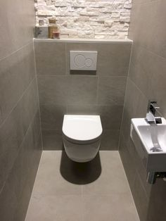 Space Saving Toilet Design for Small Bathroom - Home to Z - Gäste WC Ideen,