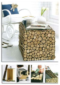 DIY tree branch table        ♪ ♪ ... #inspiration #diy GB http://www.pinterest.com/gigibrazil/boards/