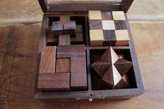 Wooden Puzzle 4 in 1 in Solid Sheesham