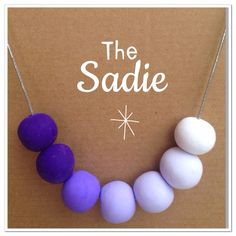 Purple polymer necklace