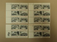 USPS Scott 2019-22 20c American Architecture Lot of 4 Plate Block Mint NH -- New