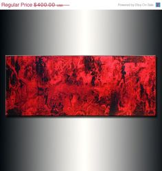 Abstract Painting Original Abstract painting by newwaveartgallery, $240.00