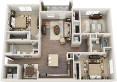 Awesome 3D Plans For Apartments - Pesquisa Google