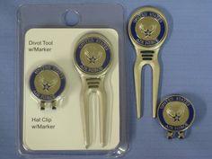 USAF Divot Tool, Hat Clip / Ball Marker