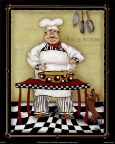 quenalbertini: Stirring Chef by Dena Marie art print