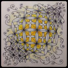 "Zentangle® Inspired Art : Weekly Challenge #175 : UMT Crux : ""Illumination"" by ha! designs"