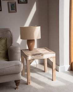 Wooden Side Table The Acorn  Handmade Pallet by PalletablesUK