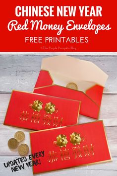 Free Printable! Download, print and make these Red Money Envelopes for Chinese New Year. Give them to loved ones to wish a prosperous new year. Updated every new year to reflect the new Chinese Zodiac animal. 2020 is the Year of the Rat #RedMoneyEnvelopes #ChineseNewYear #LunarNewYear #ThePurplePumpkinBlog #ChineseNewYearPrintables #LunarNewYearPrintables #FreePrintables Chinese New Year Crafts For Kids, Chinese New Year Activities, New Years Activities, Chinese New Year 2020, Culture Activities, Chinese Crafts, Literacy Activities, Teaching Resources, Chinese New Year Traditions