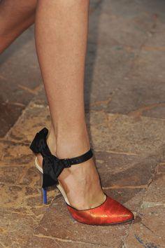 Angelo Marani #ss14 #mfw #milanomodadonna #shoes (photo: imaxtree.com)