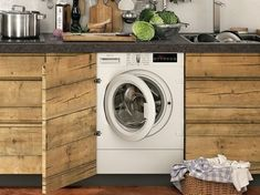 Alrededor del Agua en la Cocina Washing Machine, Laundry, Home Appliances, Interior, Laundry Room, Furniture Layout, Metal Furniture, Kitchen Units, Cuisine Design