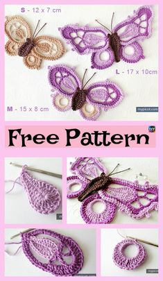 Pretty Crochet Dragon Butterfly – Free Pattern #freecrochetpatterns #butterfly