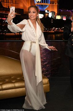 c0c23c45495f Jennifer Lopez dons sheer pants and white knickers to celebrate song