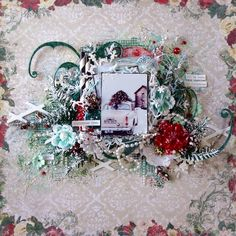 Blue Fern Studios: October inspiration by Tartine Peluche Winter Christmas, Christmas Home, Vintage Christmas, Christmas Wreaths, Scrapbook Page Layouts, Scrapbook Pages, Scrapbooking, Winter Beach, Christmas Scrapbook