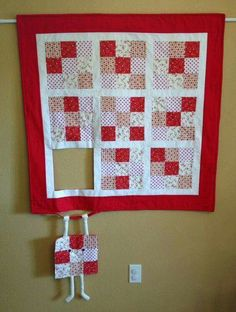 Great wall quilt for a sewing room!