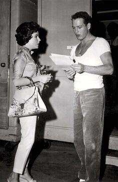 Elizabeth Taylor y Paul Newman muy jovenes