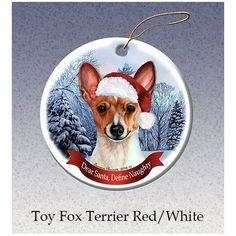Toy Fox Terrier Howliday Dog Christmas Ornament