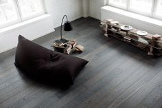 Karelia Smoked Oak Asphalt Grey Wide Plank | Silverwood Flooring | Toronto