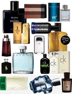 Sugestões de perfumes masculinos para dar de presente no Natal. Com link para lojas online.