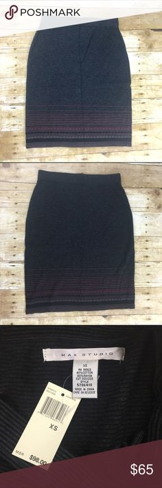 """Knit skirt New with tags, has stretch to it so could fit a small even a medium perfect for the office with tights and a button down of a cardi and boots for a more causal look length is 21"""" - offers welcome, bundle 2 or more items in my closet using the """"bundle"""" feature and receive 15% off of your total purchase! Max Studio Skirts Mini"""