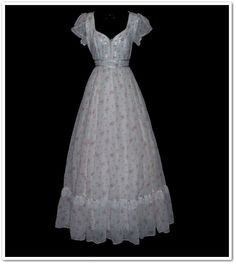 70s Gunne Sax pink roses corset maxi dress