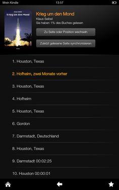 Krieg um den Mond von Klaus Seibel am Kindle Fire HD Houston, Kindle, Den, Fire, Reading Books, Laughing, Thoughts