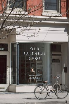 old faithful shop storefront + bicycle, vancouver | travel photography #shops