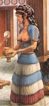 Minoan women dress