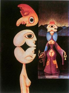 Victor Brauner, Mythotomie, oil on canvas, 61 x 46 cm (Byron Gallery, New York) Victor Brauner, Modern Art, Contemporary Art, Cultural Crafts, Famous Art, Weird Creatures, Naive Art, Romanticism, Fantastic Art