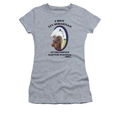 2084cecfb0 Parks And Recreation Juniors Gray I Met Li l Sebastian Tee Shirt Parks And  Recreation