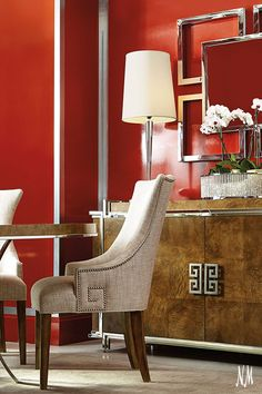 Shop Delaney Greek-Key Buffet from Bernhardt at Horchow, where you'll find new lower shipping on hundreds of home furnishings and gifts. Dining Room Furniture, Furniture Design, Mirrored Furniture, Dining Decor, Fine Furniture, Sofa Design, Room Chairs, Furniture Ideas, Dining Chairs