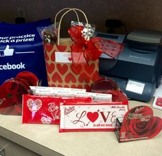 Happy Valentine's Day to US!!! Thank you Dr. Morris and staff for goodies. We WILL be your Valentine.