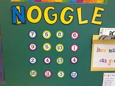 The Center Based Classroom - Featured Teacher: Mrs. Beattie's Classroom. Check out her amazing Noggle FREEBIE!