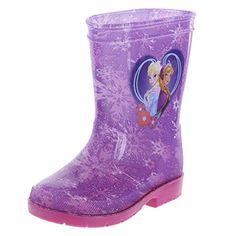 Frozen Girls' Purple Girls' Frozen Rain Boot 12 Regular - Brought to you by Avarsha.com