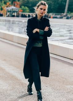 Marine Vacth photographed by Tommy Ton in Paris, October 7, 2015