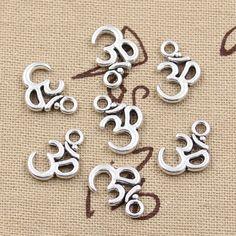 50pcs Charms Yoga OM 15*10mm handmade Craft pendant  making fit,Vintage Tibetan Bronze,DIY for bracelet necklace #Affiliate
