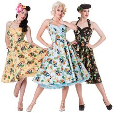 Get Fabulous Pin-Up Style with Retrospective 50s Dresses, Prom Party Dresses, Spring Dresses, Short Dresses, Rockabilly Dresses, Rockabilly Fashion, Retro Fashion, Vintage Fashion, Bird Clothing