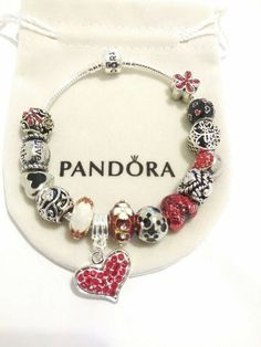 Authentic Pandora Charms Bracelet I Love You Heart Bead Women Valentine's Gift Pandora Accessories, Your Heart, Valentines Day, Charmed, Beads, My Love, Bracelets, Gifts, Handmade