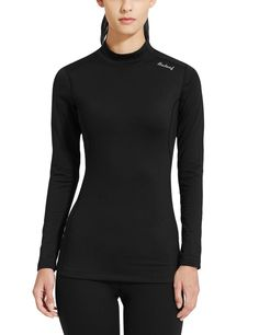 Baleaf Women's Fleece Thermal Active Running Shirt *** Check out the image by visiting the link.