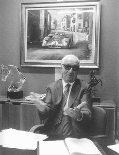 Enzo Ferrari I visited his office years ago. Lamborghini Aventador, Ferrari F1, Ferrari Scuderia, Sports Car Racing, Racing Team, Race Cars, Sport Cars, Black Audi, Car Fuel