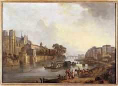 Jean-Baptiste Lallemand, (highly idealized) View of Notre Dame (c.1775)