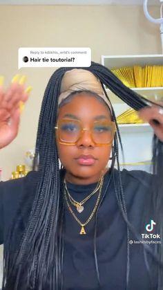 Box Braids Hairstyles For Black Women, Braids For Black Hair, Natural Hairstyles, Hair Wrap Scarf, Hair Scarf Styles, Curly Hair Styles, Baddie Hairstyles, Scarf Hairstyles, Black Hair Video