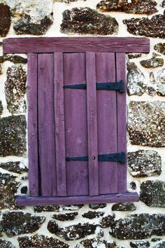 Purple Stained Wood Stone Wall Door Shades Of Deep