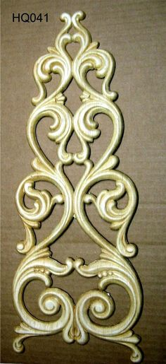 WOOD EMBOSSED APPLIQUE 6 3/4 X 17 5/8     HQ041