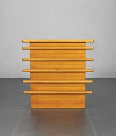 // Ettore Sottsass; Walnut Chest of Drawers for Poltronova, c1966.