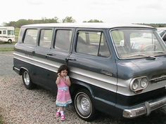 My beautiful girl with 1964 Greenbrier Corvair