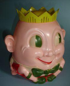 Large Vintage Plastic Humpty Dumpty Cookie Jar by MattAdore